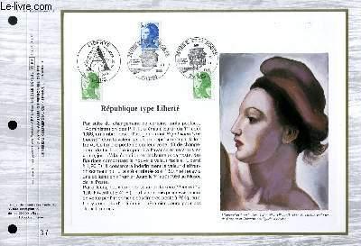 FEUILLET ARTISTIQUE PHILATELIQUE - CEF - N° 827 - REPUBLIQUE TYPE LIBERTE