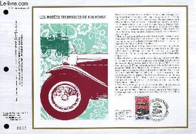FEUILLET ARTISTIQUE PHILATELIQUE - CEF - N° 840 - LES MUSEES TECHNIQUES DE MULHOUSE