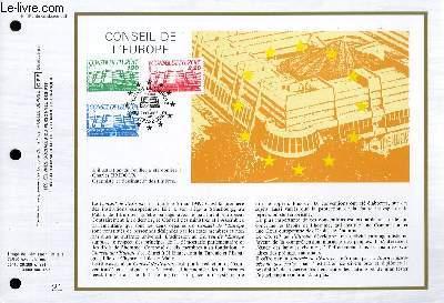 FEUILLET ARTISTIQUE PHILATELIQUE - CEF - N° 843 - CONSEIL DE L'EUROPE