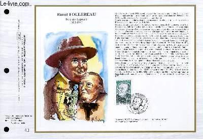 FEUILLET ARTISTIQUE PHILATELIQUE - CEF - N� 846 - RAOUL FOLLEREAU - PERE DES LEPREUX 1903-1977