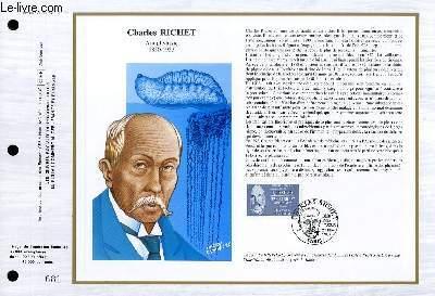 FEUILLET ARTISTIQUE PHILATELIQUE - CEF - N° 847 - CHARLES RICHET - ANAPHYLAXIE 1850-1935