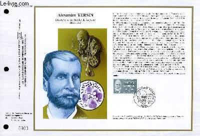 FEUILLET ARTISTIQUE PHILATELIQUE - CEF - N° 848 - ALEXANDRE YERSIN - DECOUVERTE DU BACILLE DE LA PESTE 1863-1943