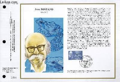 FEUILLET ARTISTIQUE PHILATELIQUE - CEF - N° 850 - JEAN ROSTAND 1894-1977