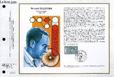 FEUILLET ARTISTIQUE PHILATELIQUE - CEF - N° 851 - BERNARD HALPERN - IMMONULOGISTE 1904-1978