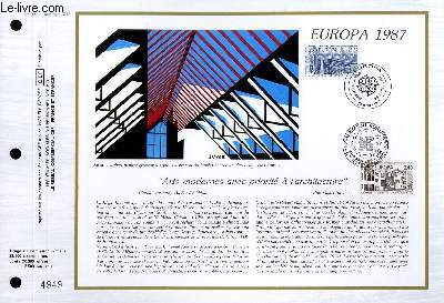 FEUILLET ARTISTIQUE PHILATELIQUE - CEF - N° 859 - EUROPA 1987