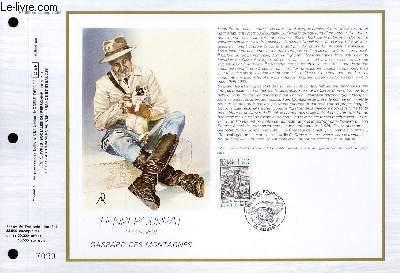 FEUILLET ARTISTIQUE PHILATELIQUE - CEF - N° 861 - HENRI POURRAT 1887-1959 - GASPARD DES MONTAGNES