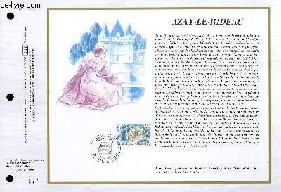 FEUILLET ARTISTIQUE PHILATELIQUE - CEF - N° 862 - AZAY LE RIDEAU