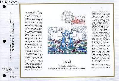 FEUILLET ARTISTIQUE PHILATELIQUE - CEF - N� 865 - LENS 6 CONGRES NATIONAL DES SOCIETES PHILATELIQUES DE FRANCE