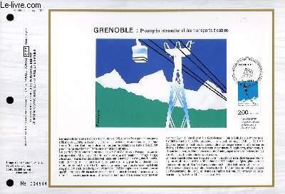FEUILLET ARTISTIQUE PHILATELIQUE - CEF - N° 868 - GRENOBLE : 6° CONGRES INTERNATIONALE DES TRANSPORTS A CABLES