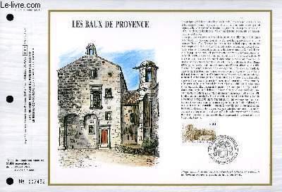 FEUILLET ARTISTIQUE PHILATELIQUE - CEF - N° 872 - LES BAUX DE PROVENCE
