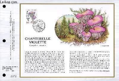 FEUILLET ARTISTIQUE PHILATELIQUE - CEF - N° 876 - CHANTERELLE VIOLETTE - GOMPHUS CLAVATUS