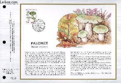 FEUILLET ARTISTIQUE PHILATELIQUE - CEF - N° 878 - PALOMET - RUSSULA VIRESCENS