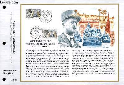 FEUILLET ARTISTIQUE PHILATELIQUE - CEF - N� 887 - GENERAL LECLERC MARECHAL DE FRANCE 1902-1947 - KOUFRA - PARIS - STRASBOURG