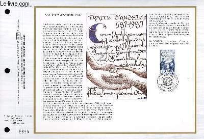 FEUILLET ARTISTIQUE PHILATELIQUE - CEF - N� 888 - 587 - TRAITE D'ANDELOT 1987