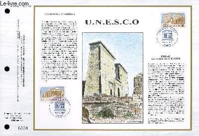 FEUILLET ARTISTIQUE PHILATELIQUE - CEF - N� 889 - UNESCO - L'ACROPOLE D'ATHENES - PHILAE, LA PERLE DE L'EGYPTE