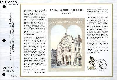 FEUILLET ARTISTIQUE PHILATELIQUE - CEF - N� 893 - LA SYNAGOGUE VICTOIRE A PARIS