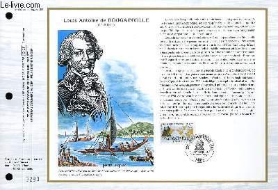 FEUILLET ARTISTIQUE PHILATELIQUE - CEF - N� 897 - LOUIS ANTOINE DE BOUGAINVILLE 1729-1811