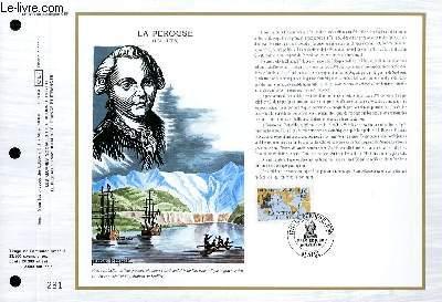 FEUILLET ARTISTIQUE PHILATELIQUE - CEF - N° 898 - LA PEROUSE 1741-1788
