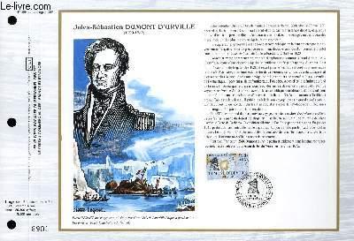 FEUILLET ARTISTIQUE PHILATELIQUE - CEF - N° 899 - JULES-SEBASTIEN DUMONT D'URVILLE
