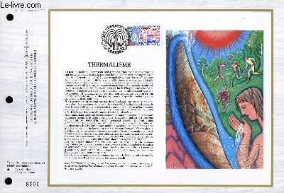 FEUILLET ARTISTIQUE PHILATELIQUE - CEF - N° 928 - THERMALISME