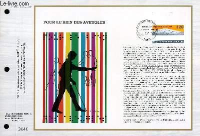 FEUILLET ARTISTIQUE PHILATELIQUE - CEF - N° 934 - POUR LE BIEN DES AVEUGLES