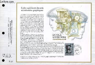 FEUILLET ARTISTIQUE PHILATELIQUE - CEF - N° 937 - ECOLE SUPERIEURE DES ARTS ET INSDUSTRIES GRAPHIQUES