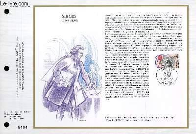 FEUILLET ARTISTIQUE PHILATELIQUE - CEF - N° 938 - SIEYES (1748-1836)