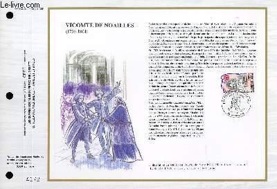 FEUILLET ARTISTIQUE PHILATELIQUE - CEF - N° 940 - VICOMTE DE NOAILLES - (1756-1804)