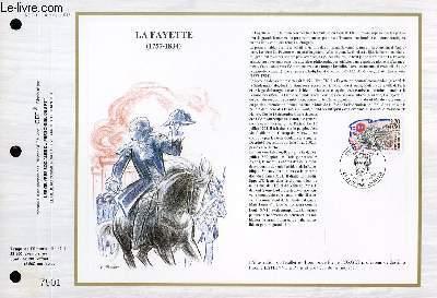 FEUILLET ARTISTIQUE PHILATELIQUE - CEF - N° 941 - LA FAYETTE 1757-1834