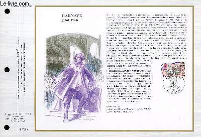 FEUILLET ARTISTIQUE PHILATELIQUE - CEF - N° 942 - BARNAVE 1761-1793