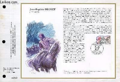 FEUILLET ARTISTIQUE PHILATELIQUE - CEF - N° 943 - JEAN-BAPTISTE DROUET - 1763-1824