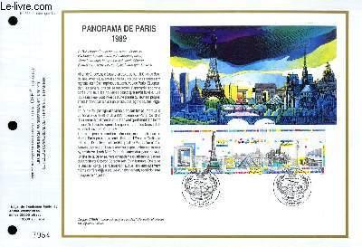 FEUILLET ARTISTIQUE PHILATELIQUE - CEF - N° 948 - PANORAMA DE PARIS 1989
