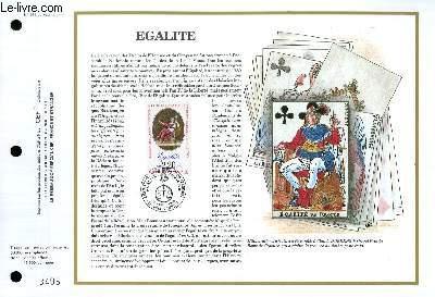 FEUILLET ARTISTIQUE PHILATELIQUE - CEF - N° 949 - EGALITE