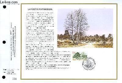 FEUILLET ARTISTIQUE PHILATELIQUE - CEF - N° 951 - LE FORET DE FONTAINEBLEAU