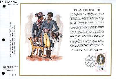 FEUILLET ARTISTIQUE PHILATELIQUE - CEF - N° 953 - FRATERNITE