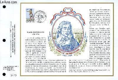 FEUILLET ARTISTIQUE PHILATELIQUE - CEF - N° 958 - CAMILLE DESMOULINS 1760-1794