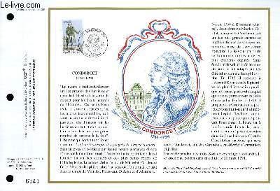 FEUILLET ARTISTIQUE PHILATELIQUE - CEF - N° 959 - CONDORCET 1743-1794