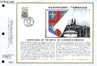 FEUILLET ARTISTIQUE PHILATELIQUE - CEF - N° 968 - CENTENAIRE DU TRAMWAY DE CLERMONT-FERRAND