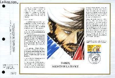 FEUILLET ARTISTIQUE PHILATELIQUE - CEF - N° 973 - HARKIS, SOLDATS DE LA FRANCE