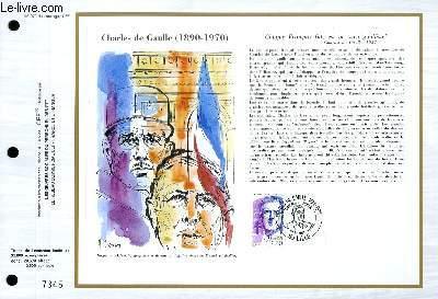 FEUILLET ARTISTIQUE PHILATELIQUE - CEF - N° 979 - CHARLES DE GAULLE 1890-1970