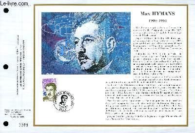 FEUILLET ARTISTIQUE PHILATELIQUE - CEF - N° 982 - MAX HYMANS 1900-1961