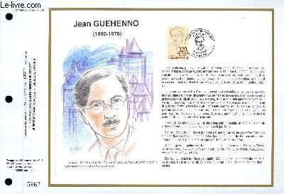 FEUILLET ARTISTIQUE PHILATELIQUE - CEF - N° 984 - JEAN GUEHENNO 1890-1978
