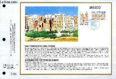 FEUILLET ARTISTIQUE PHILATELIQUE - CEF - N° 986 - UNESCO