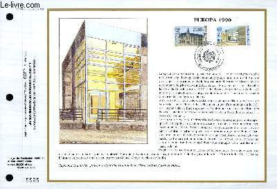 FEUILLET ARTISTIQUE PHILATELIQUE - CEF - N° 988 - EUROPA 1990