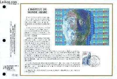 FEUILLET ARTISTIQUE PHILATELIQUE - CEF - N° 990 - L'INSTITUT DU MONDE ARABE