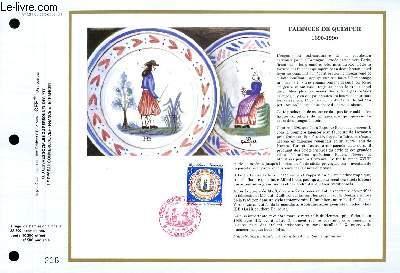 FEUILLET ARTISTIQUE PHILATELIQUE - CEF - N° 991 - FAIENCES DE QUIMPER 1690-1990