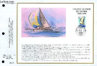 FEUILLET ARTISTIQUE PHILATELIQUE - CEF - N° 995 - COURSE AUTOUR DU MONDE 1989-1990