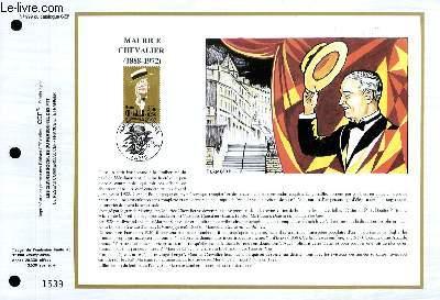 FEUILLET ARTISTIQUE PHILATELIQUE - CEF - N° 999 - MAURICE CHEVALIER (1888-1972)