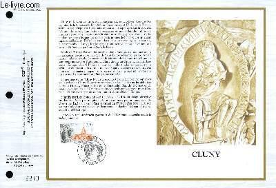 FEUILLET ARTISTIQUE PHILATELIQUE - CEF - N° 1005 - CLUNY