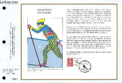 FEUILLET ARTISTIQUE PHILATELIQUE - CEF - N° 1023 - SLALOM LES MENUIRES